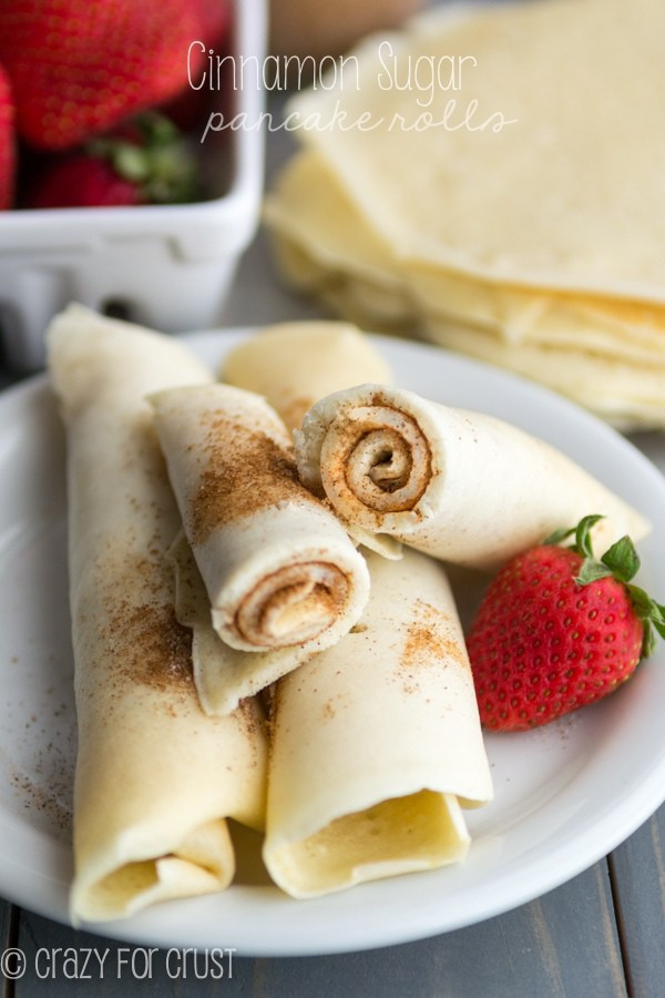 Cinnamon Sugar Pancake Rolls - the perfect grab and go pancake breakfast!