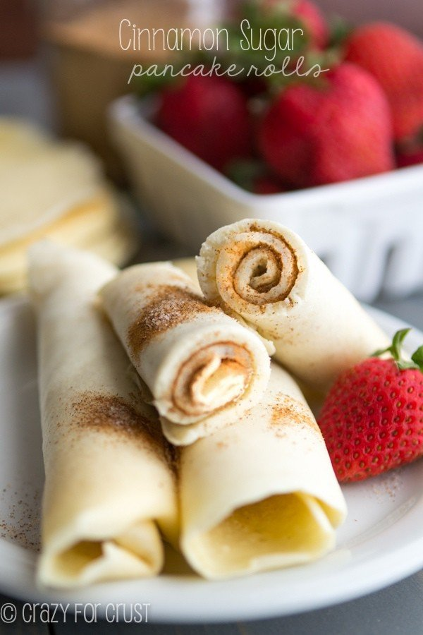 Cinnamon Sugar Pancake Rolls