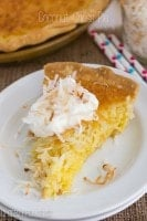 Coconut Chess Pie