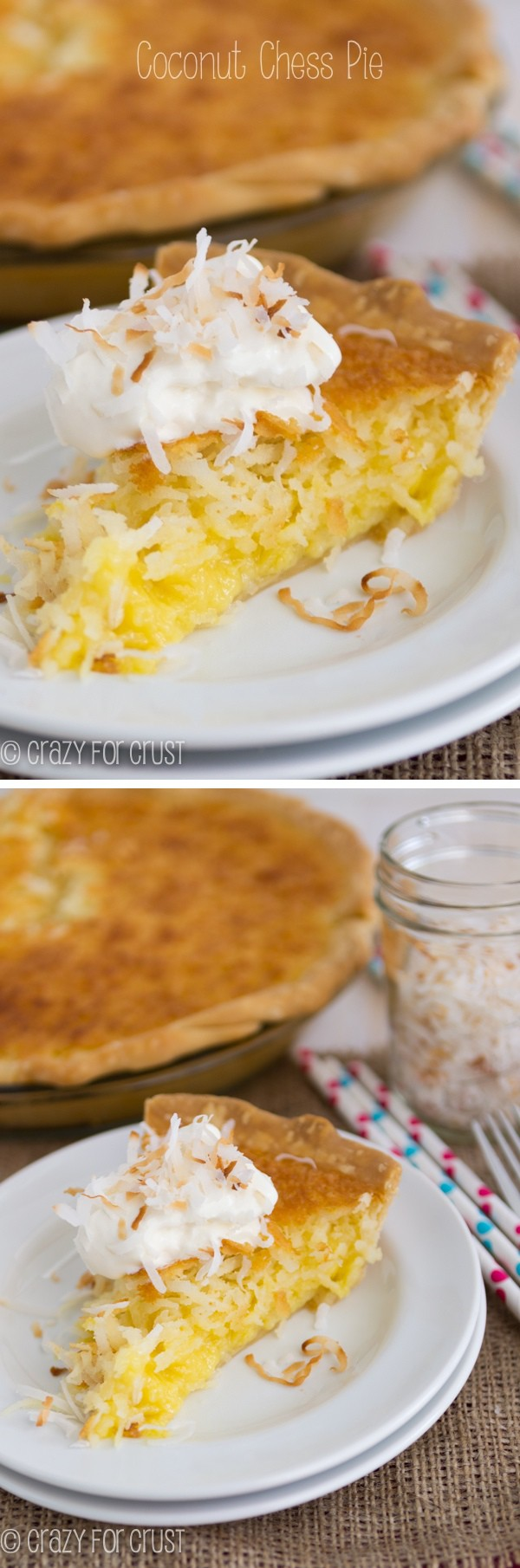 Coconut Chess Pie - coconut in every bite!