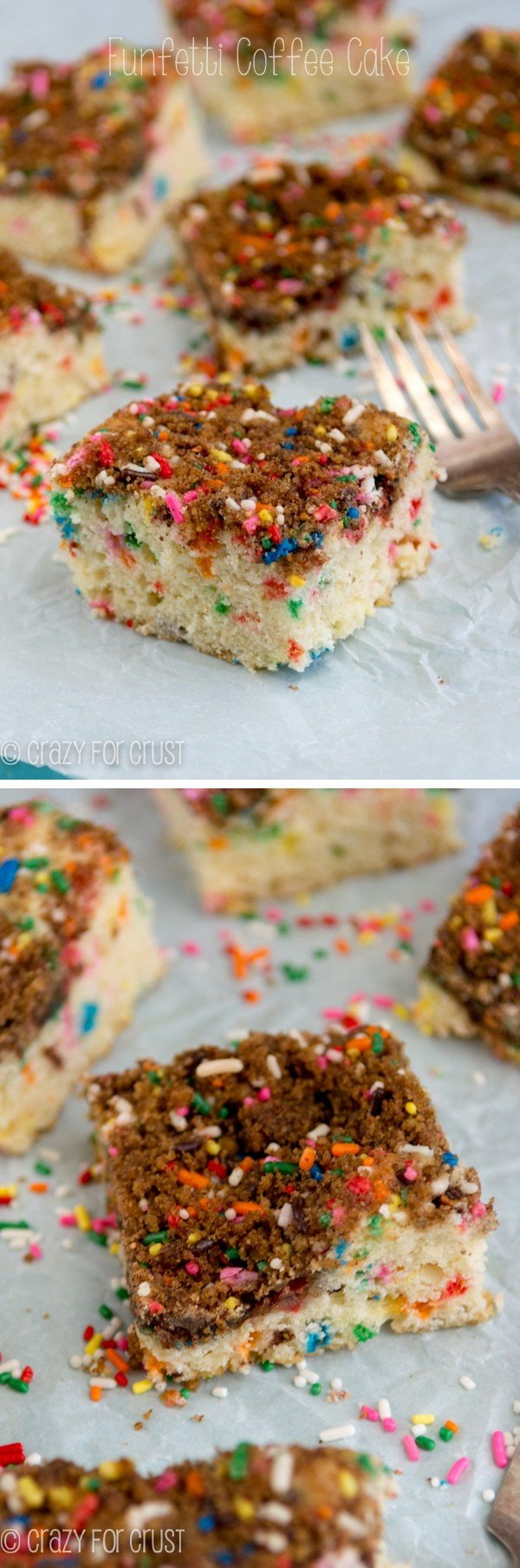 Funfetti Coffee Cake: a streusel coffee cake that tastes like funfetti cake!