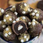 marshmallow stuffed Oreo truffle covered with graham cracker crumbs!