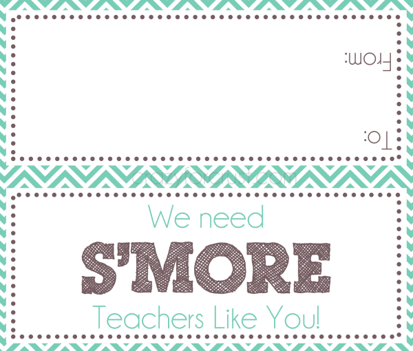 We need S'more Teachers Like You free printable at crazyforcrust.com