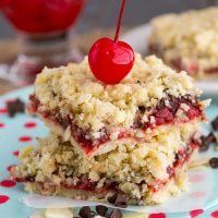 Almond Chocolate Cherry Pie Bars (2 of 4)w