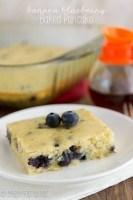 Banana Blueberry Baked Pancake