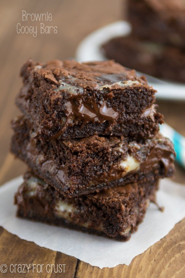 Brownie Gooey Bars - the most gooey and chocolatey brownies ever!