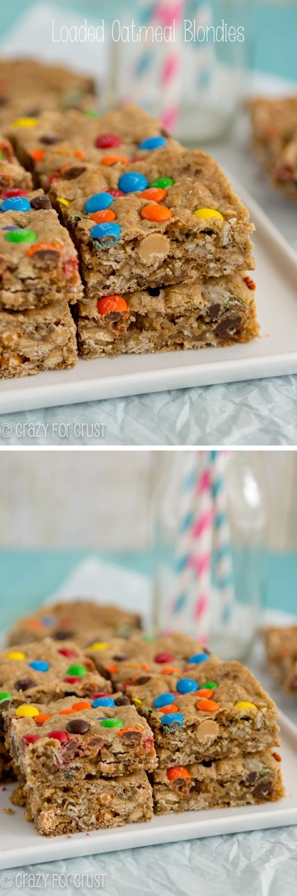 Loaded Oatmeal Blondies recipe - clean out your pantry to make the best blondies ever!