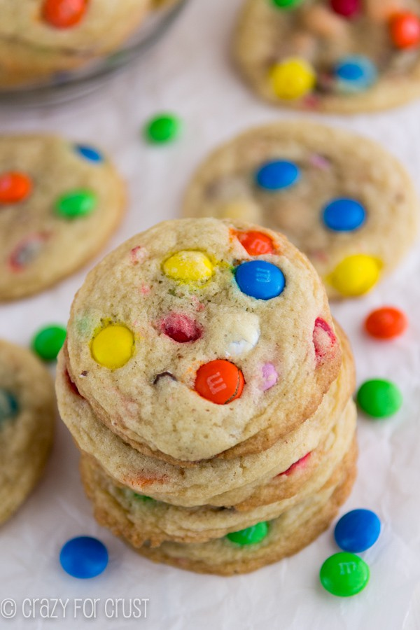 M&M Sugar Cookies - perfect for everyone with a dairy-free option!