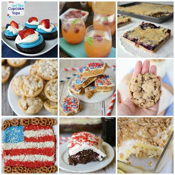 Collage of some memorial day recipes