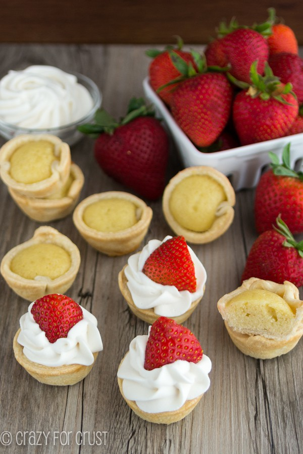 Mini Strawberry Shortcake Pies - less mess than regular shortcake!