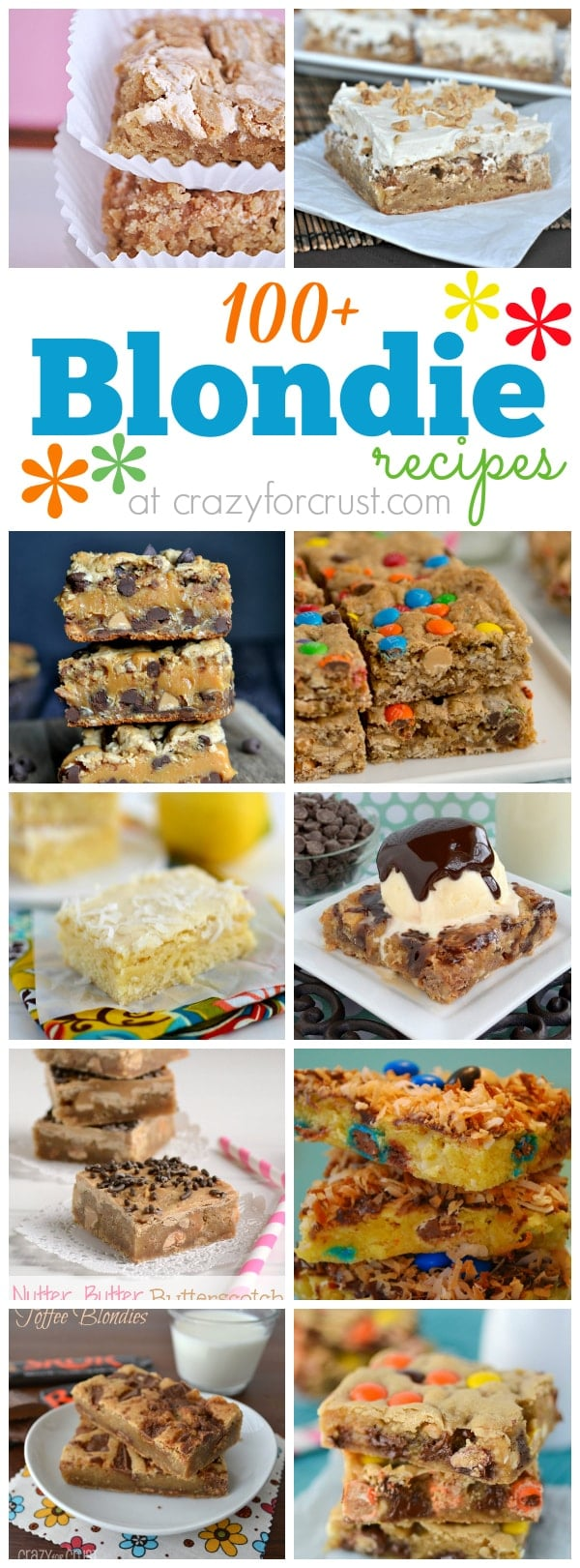 Over 100 Blondie Recipes collage