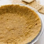 Graham cracker crust from scratch, used for baked pies or no bake pie recipes