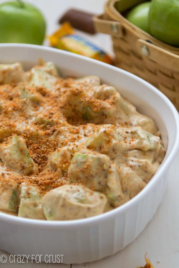 The BEST salad ever: Butterfinger Apple Salad