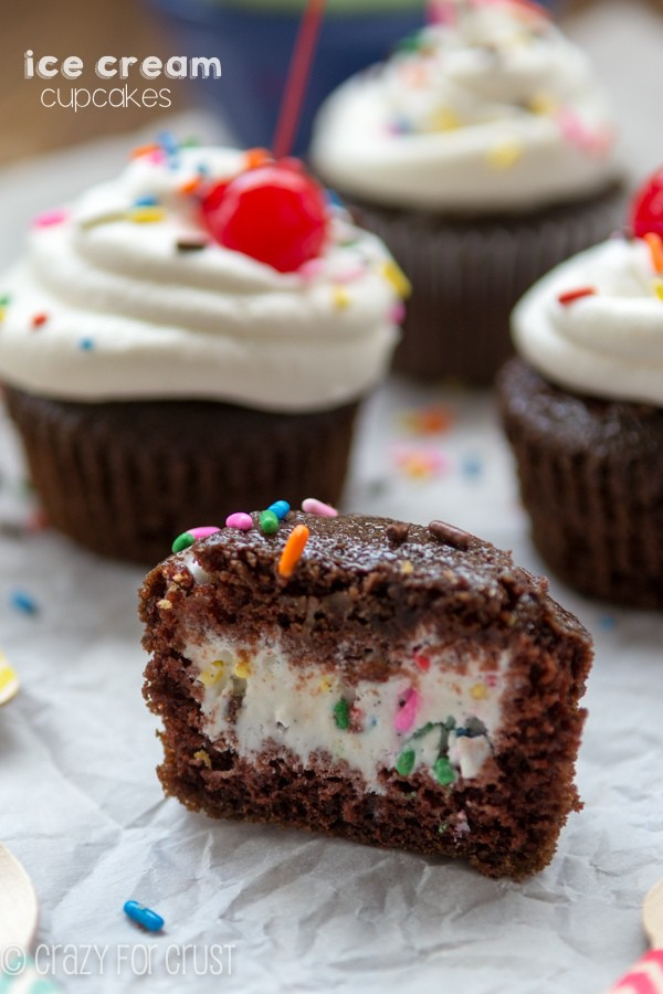 Ice Cream Cupcakes - put the ice cream inside the cupcake! Use your favorite flavors for endless combinations.