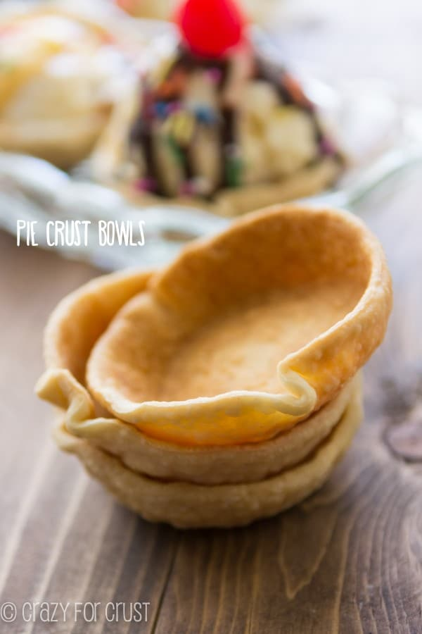 Pie Crust Bowls are the BEST way to eat ice cream!