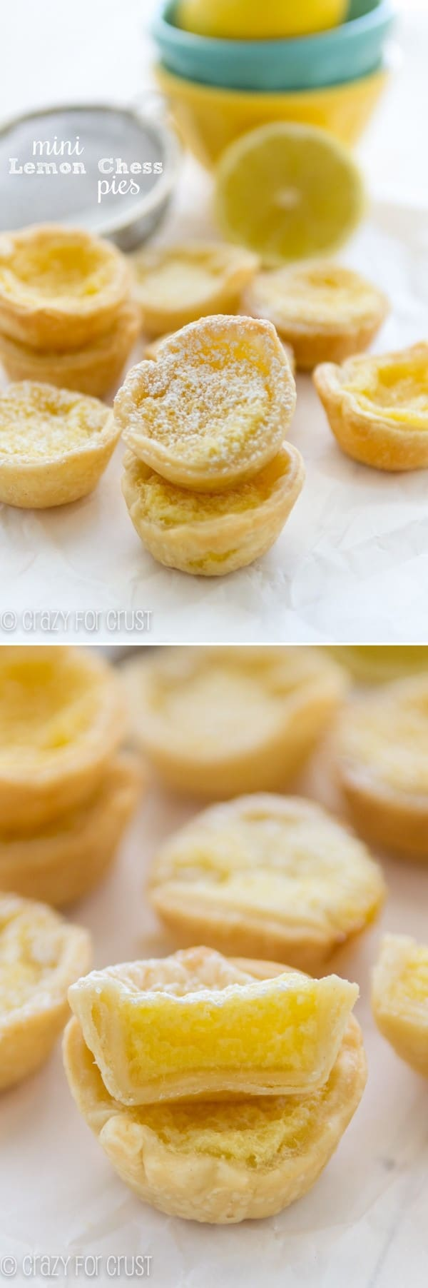 The PERFECT Mini Lemon Chess Pies!