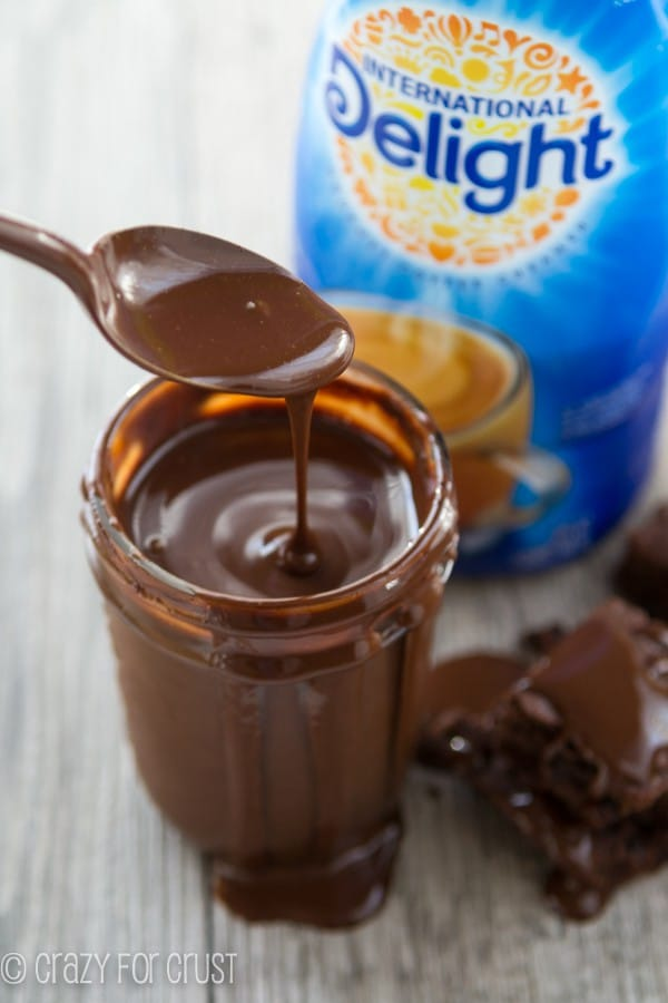 Thick Homemade Chocolate Sauce - a pourable hot fudge! @InDelight #IDelight