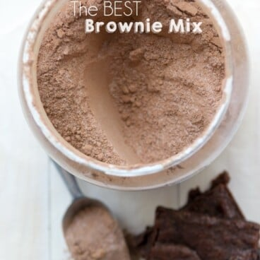 The Best Homemade Brownie Mix in a jar