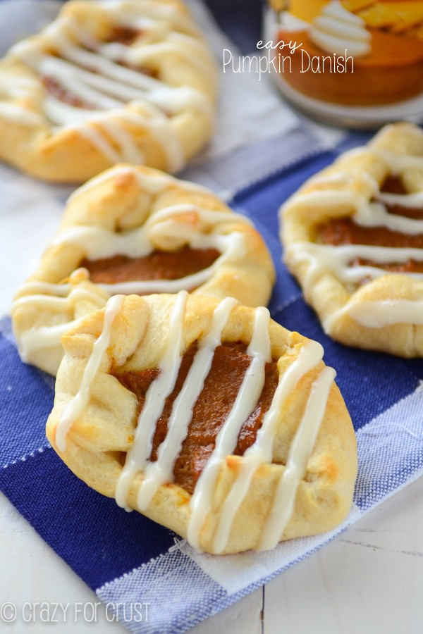 Easy Pumpkin Danish - perfect for any fall breakfast.
