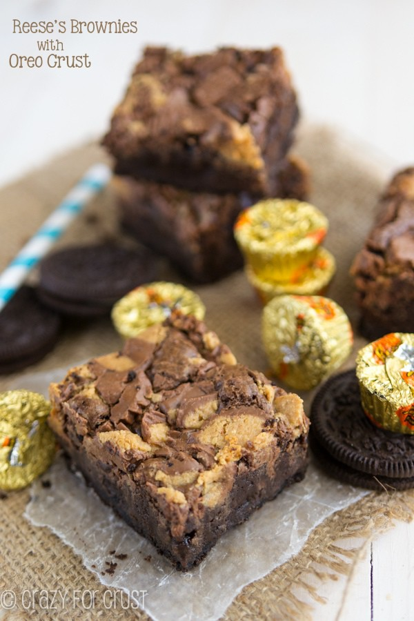 Oreo Peanut Butter Cup Brownies