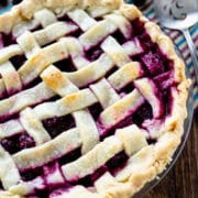 blackberry pie overhead