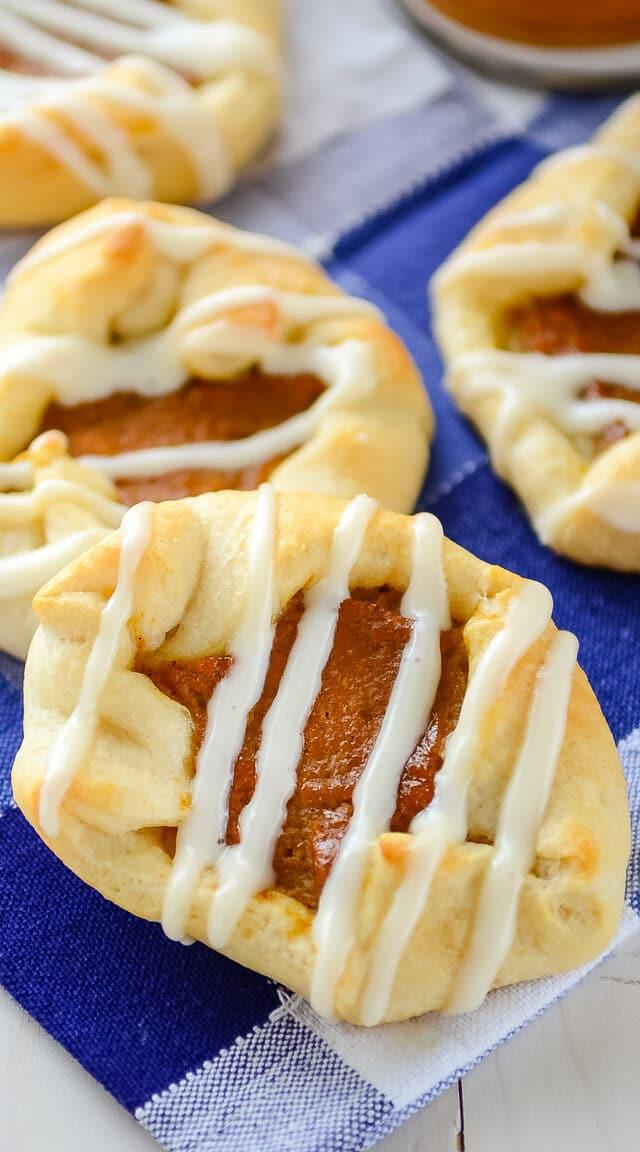 pumpkin danish on napkin