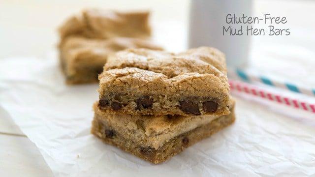 Gluten Free Mud Hen Bars - brown sugar meringue on top of gluten-free cookie dough!