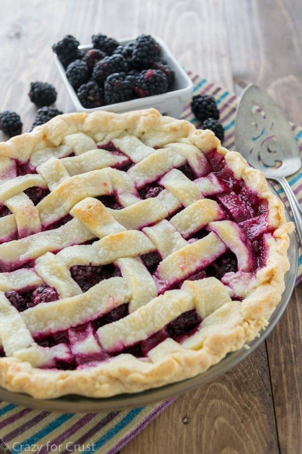 Lattice Blackberry Pie (1 of 7)