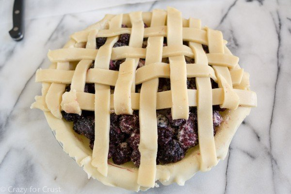 How to make a lattice topped pie with a photo tutorial!