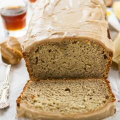 Peanut Butter Banana Bread with maple glaze (3 of 5)w