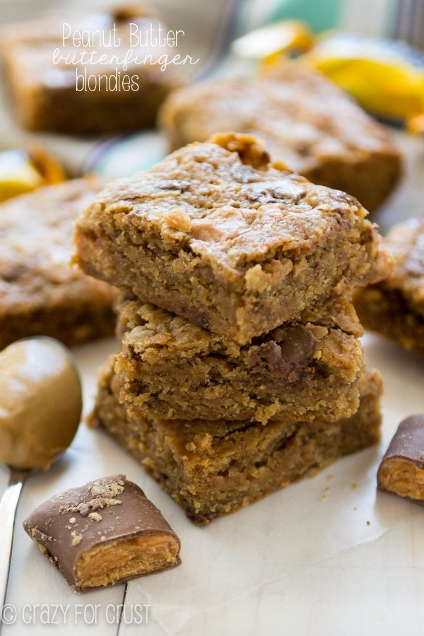 Peanut Butter Butterfinger Blondies (2 of 4)w