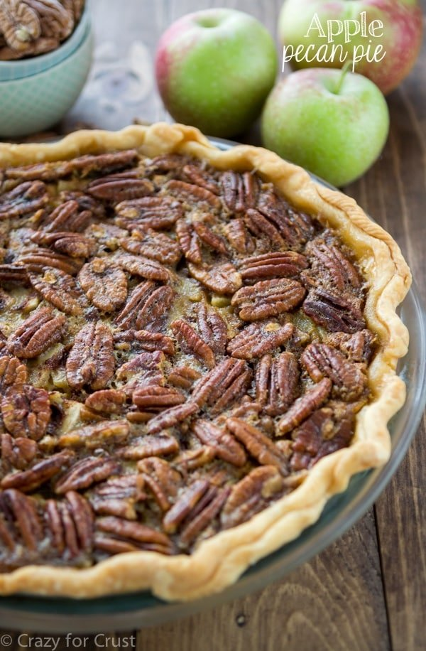 Apple Pecan Pie - an apple pie and a pecan pie all in one!