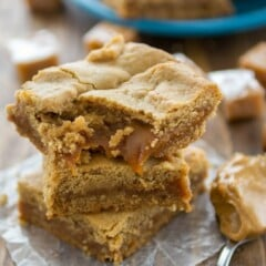 Caramel Peanut Butter Cookie Bars (6 of 6)w