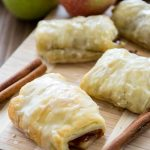apple croissant on cutting board