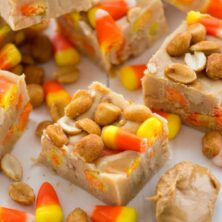 payday fudge with candy corn