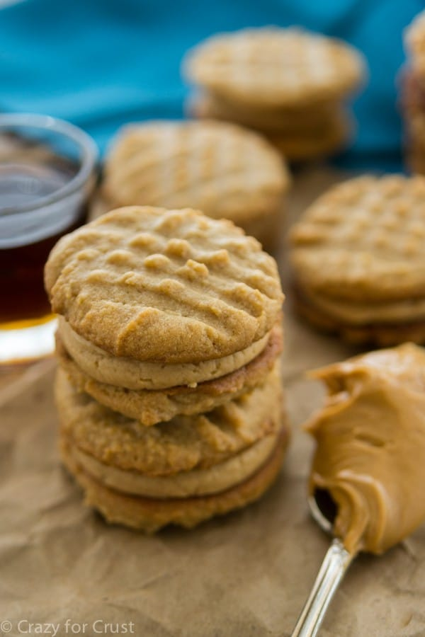 Butter Sandwich Cookies are filled with peanut butter maple cream