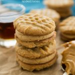 peanut butter cookies sandwiched with frosting