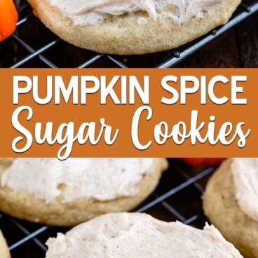 pumpkin spice cookies collage