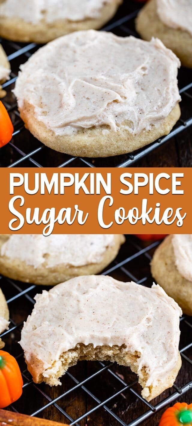 pumpkin spice cookies collage