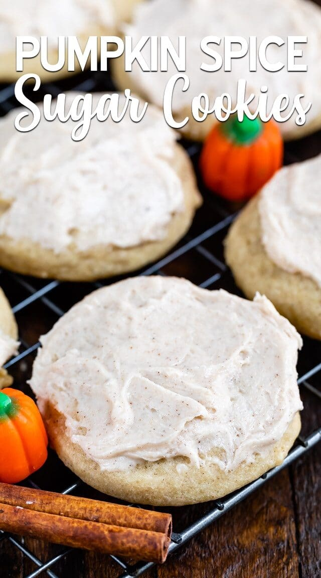 pumpkin spice cookie with frosting