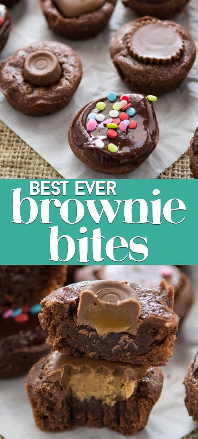brownie bites collage