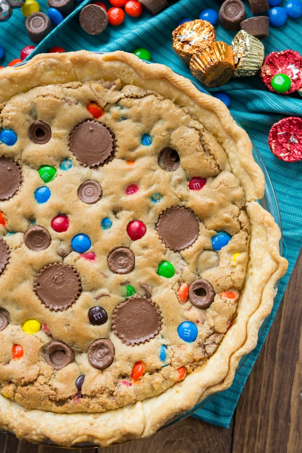 Candy Bar Pie is a blondie with a crust!