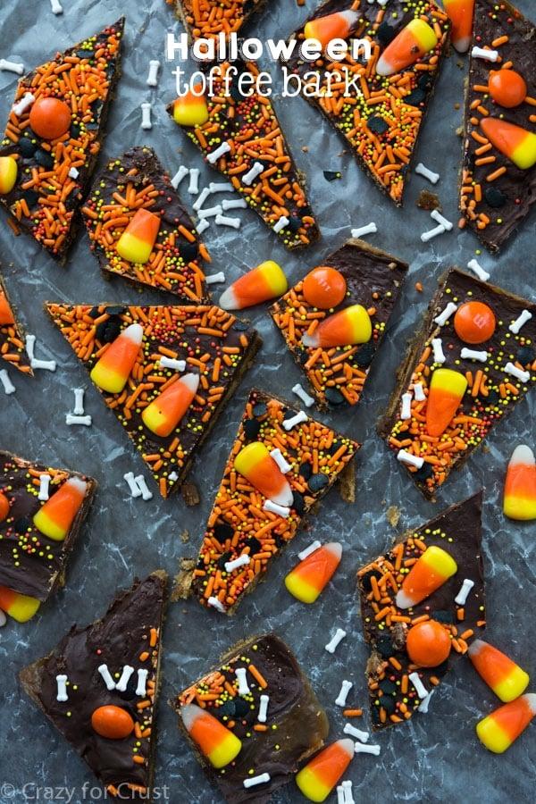 Halloween Toffee Bark