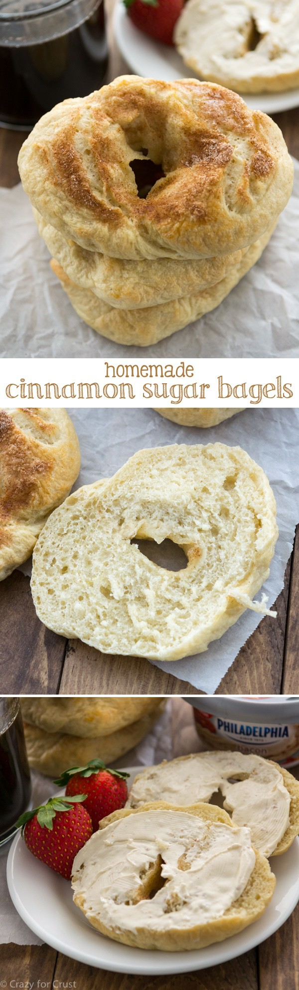 Cinnamon Sugar Bagels