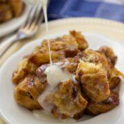 Slow Cooker Cinnamon Roll Monkey Bread is an easy dessert that won't last long in a crowd!