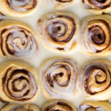 Eggnog Cinnamon Rolls have eggnog in the dough and glaze!