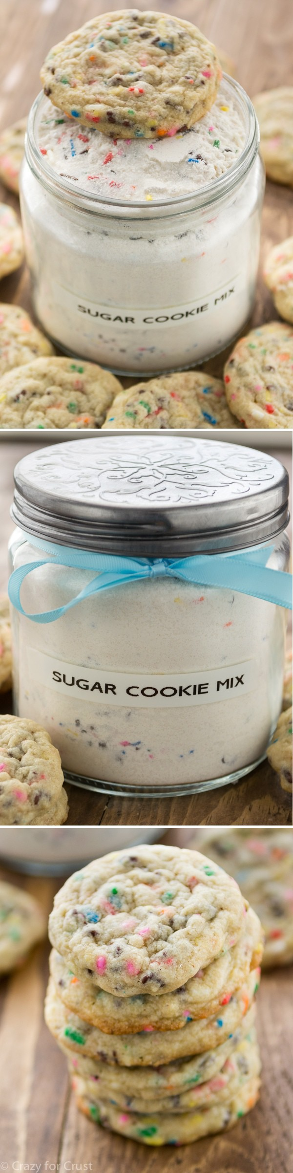 Homemade Sugar Cookie Mix is the perfect DIY gift! And it makes the best cookies!