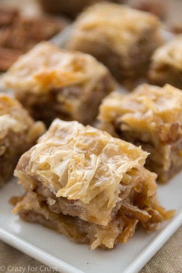 Pecan Pie Baklava is like baklava that tastes like pecan pie!