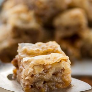 This pecan pie baklava is a delicious variation of traditional baklava