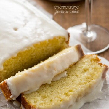 This Champagne Pound Cake replaces champagne for the milk and gives it an airy texture.